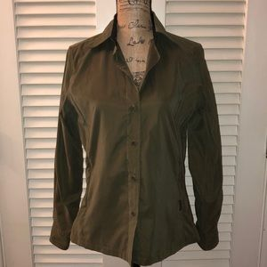 Façonnable Green Button Down Top